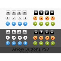 Arrow Buttons Photoshop Design