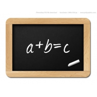 Small Black Chalkboard, PSD Template