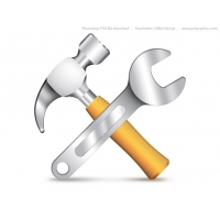Settings Icon, PSD Рammer And Wrench