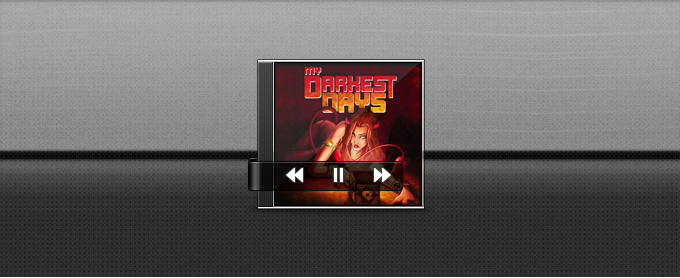 Simple Music Player with Album Cover PSD