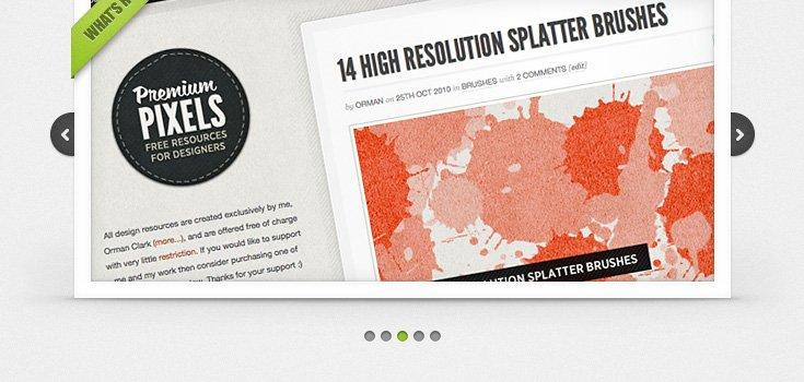 Clean & Simple Image Slider (PSD)
