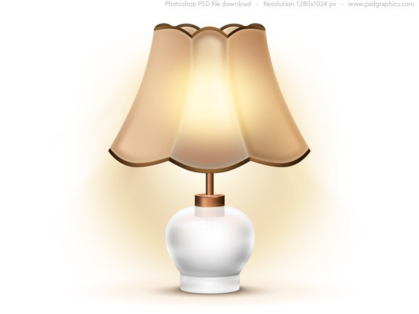 Old Table Lamp Icon (PSD)