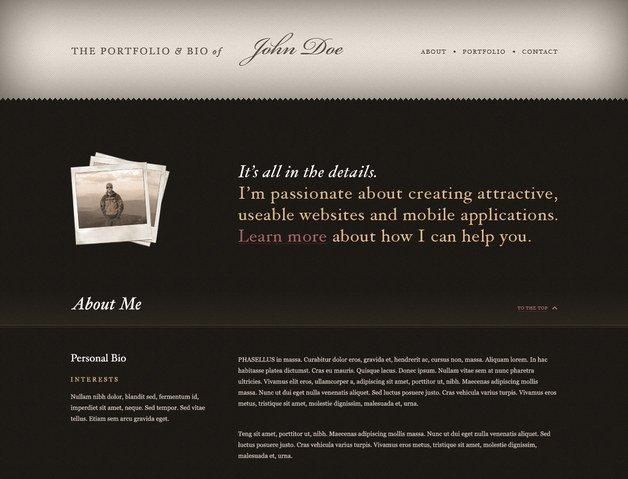 Vintage Web Design Portfolio