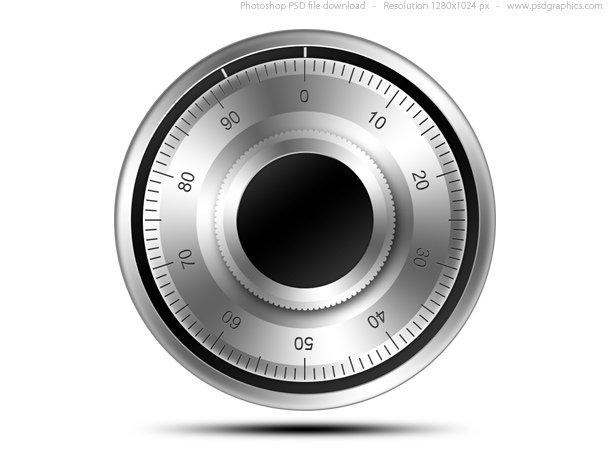 Combination Lock Icon (PSD)