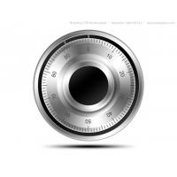 Combination Lock Icon (PSD)