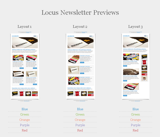 Locus Free Newsletter PSD Template