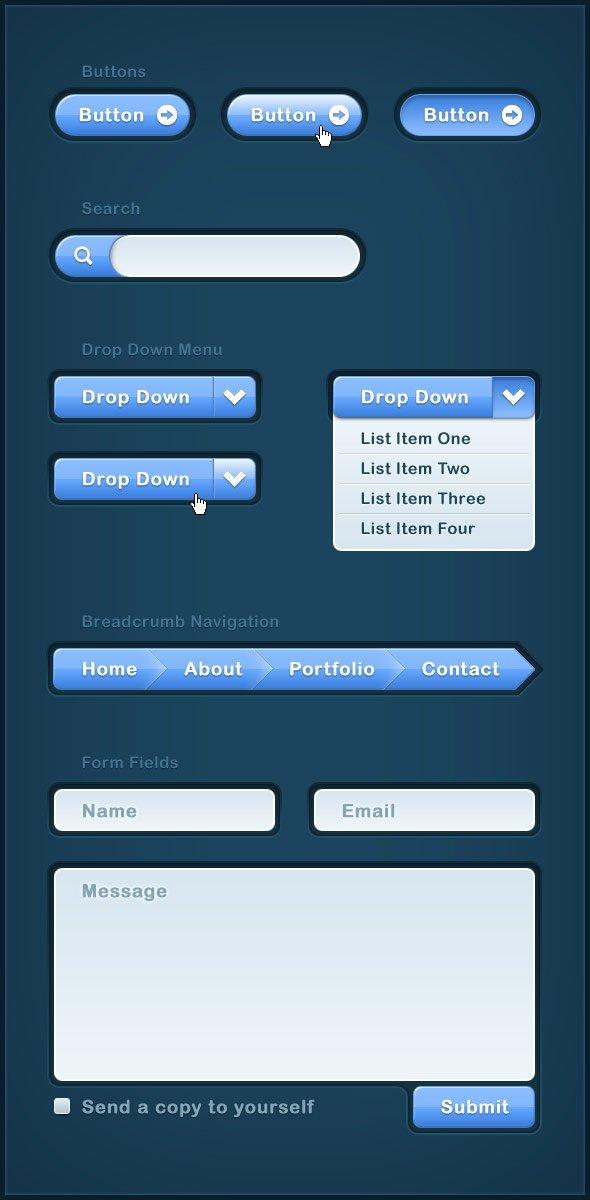 Blue Modern Web UI