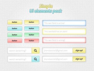 Simple UI Element Pack