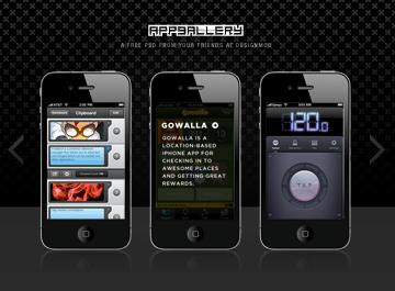 iPhone App Gallery PSD