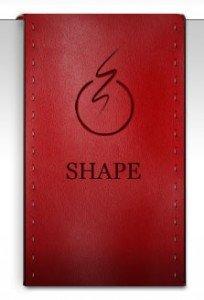 Red Leather Drape Badge
