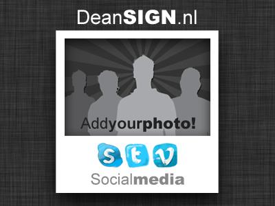 Social Media Polaroid
