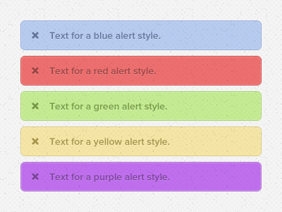 Textured Alerts
