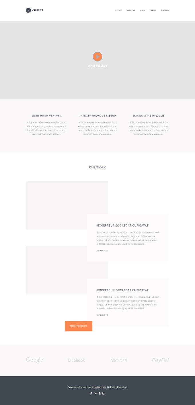 Creativs A Complete HTML5 & PSD Website Template - Freebie