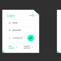 Freebie: Login And User Profile Boxes