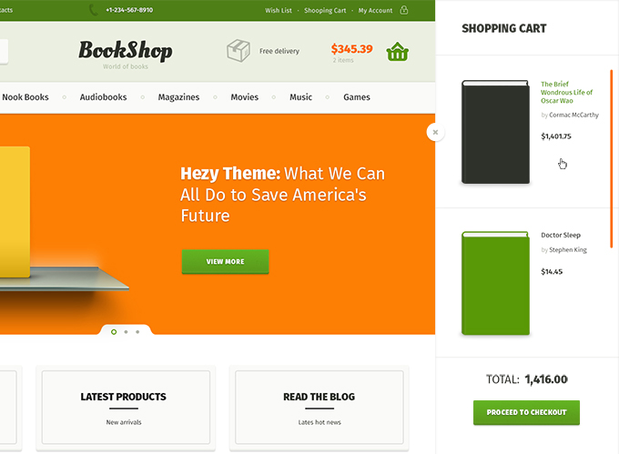 Bookshop Template & Free