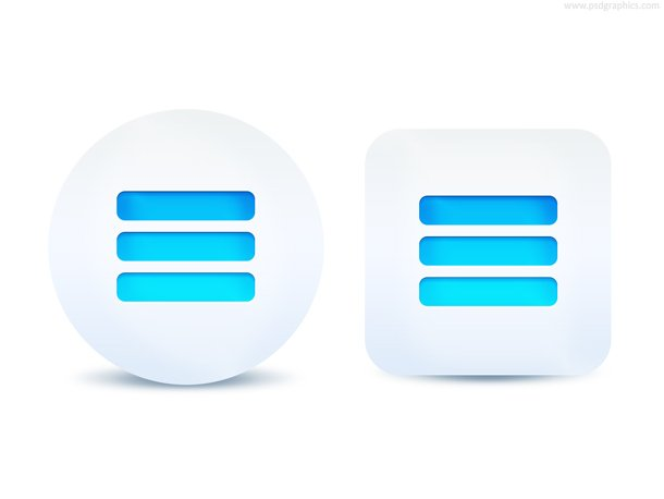 Expand Menu Button (PSD)