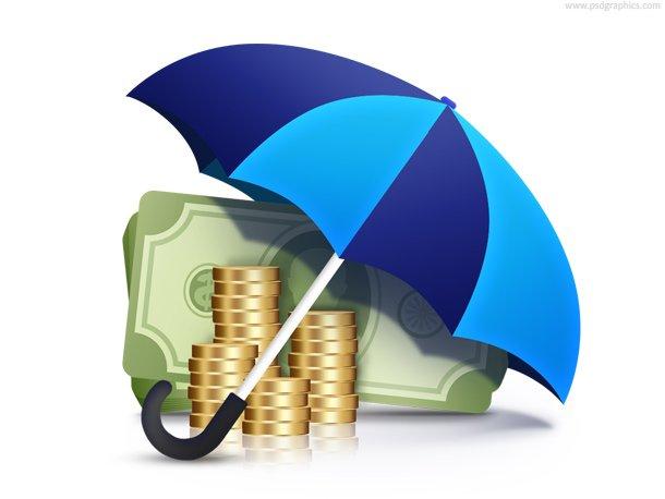 Money Under Umbrella (PSD)