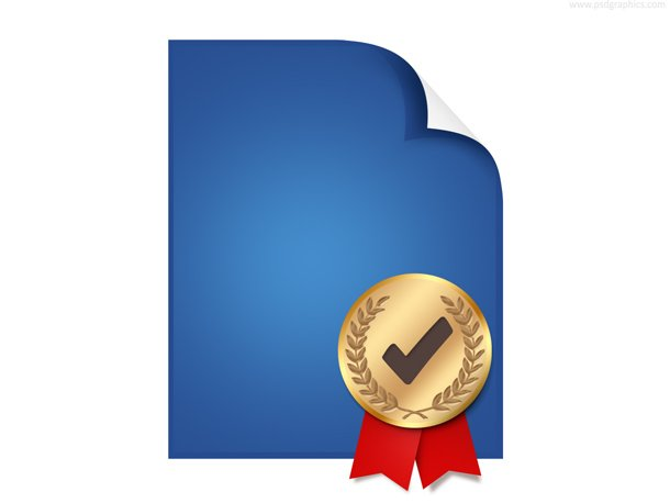 Certified Document Icon (PSD)