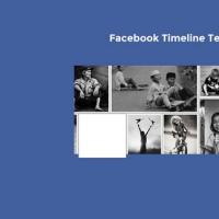 Facebook Timeline Template PSD