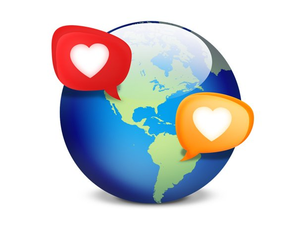 Social Network Dating Icon (PSD)