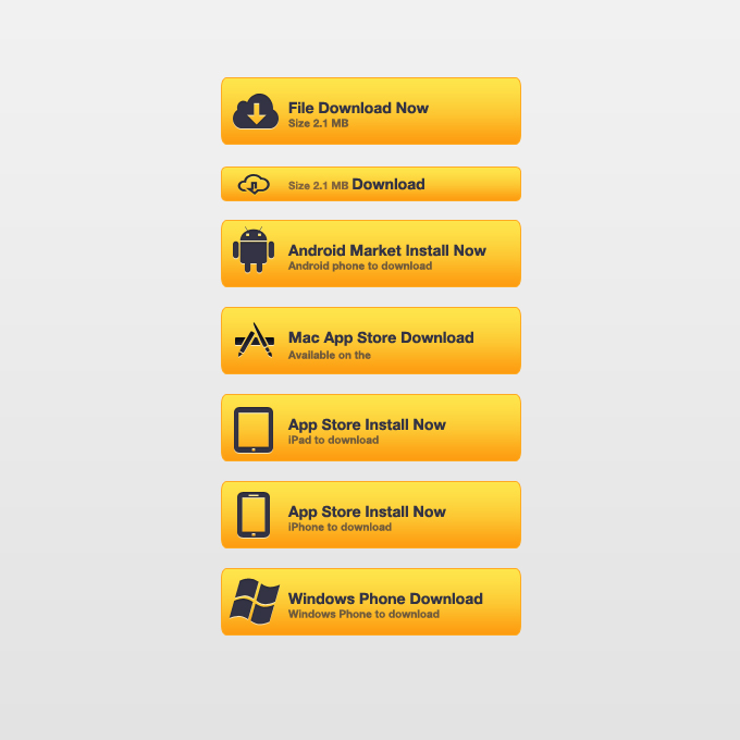 Yellow Download Buttons