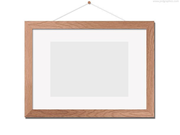 Wooden Photo Frame Template (PSD)