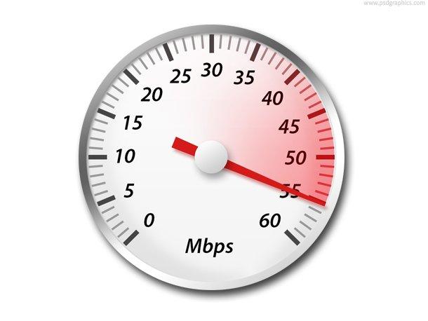 Internet Speed Icon (PSD)