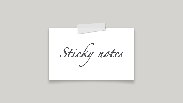 Sticky Note PSD