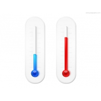 Winter And Summer Thermometers Icon (PSD)