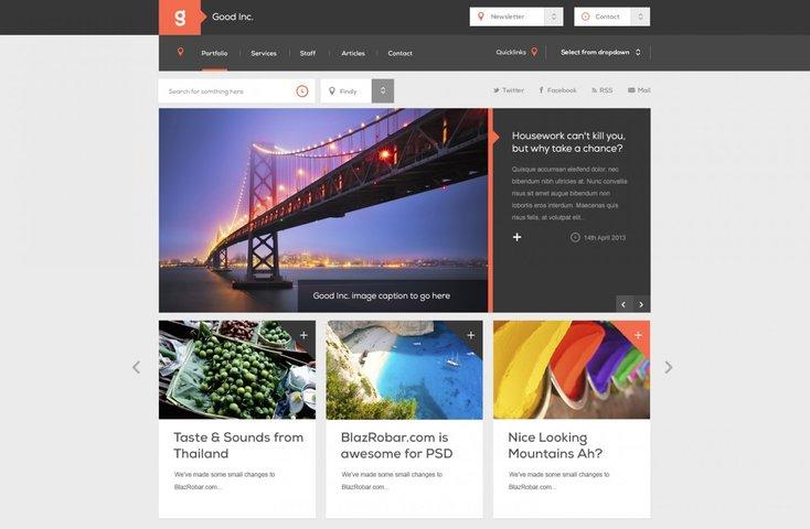 Good Inc Free PSD Website Template