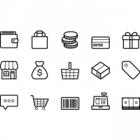 OUTLINED E-COMMERCE VECTOR ICONS