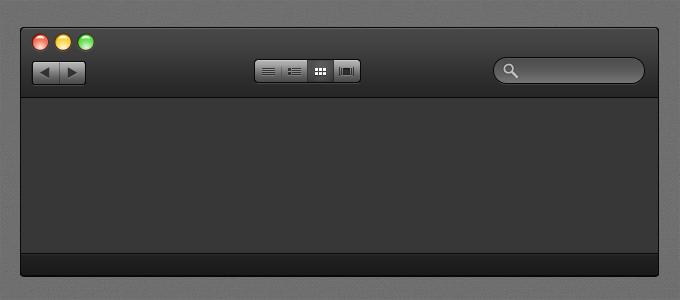 Black OS X UI