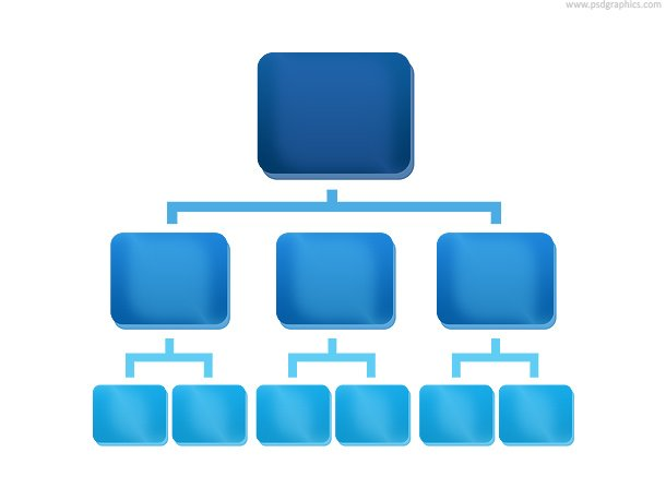 Organization Chart Icon (PSD)
