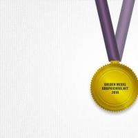 Psd Golden Medal