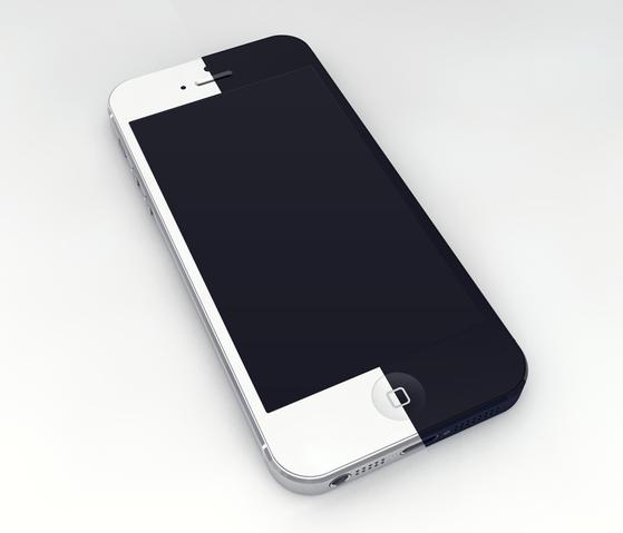 iPhone 5 3D Mockup Template