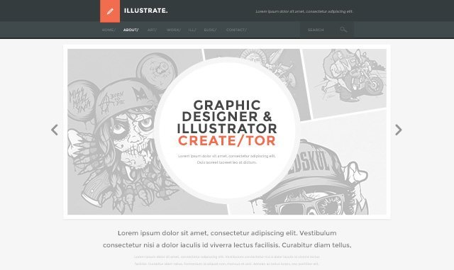 Illustate Free PSD Template