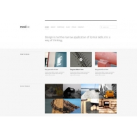 Motive Minimal Homepage Layout Free PSD Template
