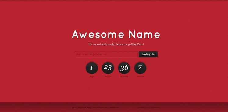 Coming Soon Free PSD Template