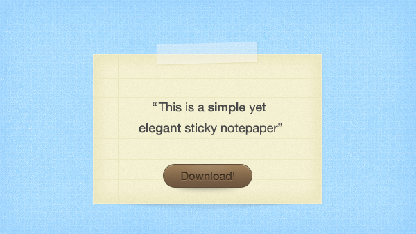 Sticky Notepaper PSD