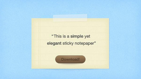 Sticky Notepaper PSD