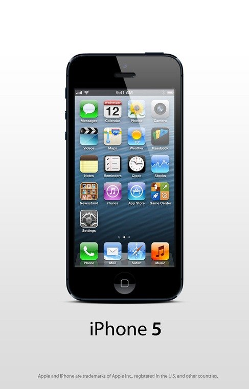 Apple iPhone 5 Black PSD