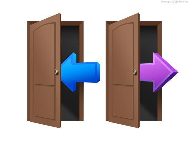 Login And Logout Door Symbol (PSD)