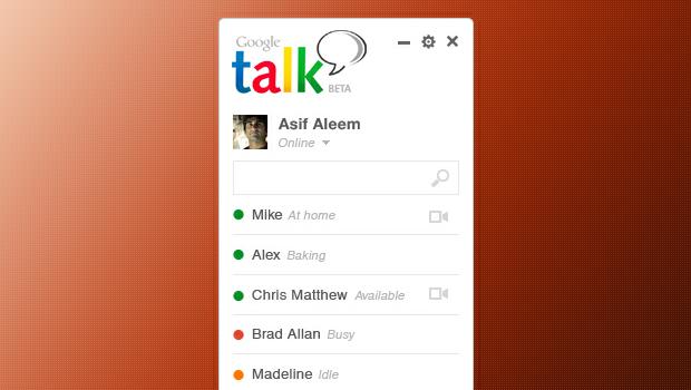 Google Talk Concept Design PSD