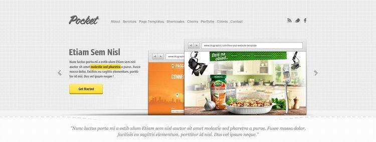 Pocket Free Website PSD Templateo