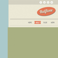 Halftone Free PSD Template