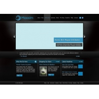 Maxxim Free Dark Texture Website Template
