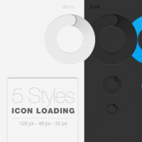 Animated Loading Icon PSD