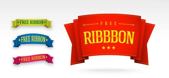 5 Free PSD Ribbon Templates