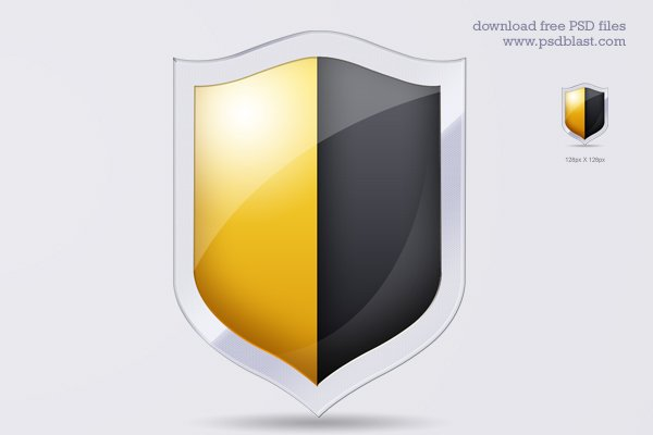 Shield, Securtiy Icon (PSD)