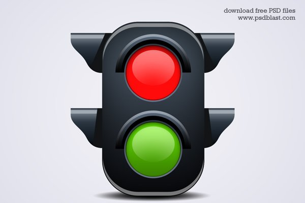 Traffic Light Icon (PSD)